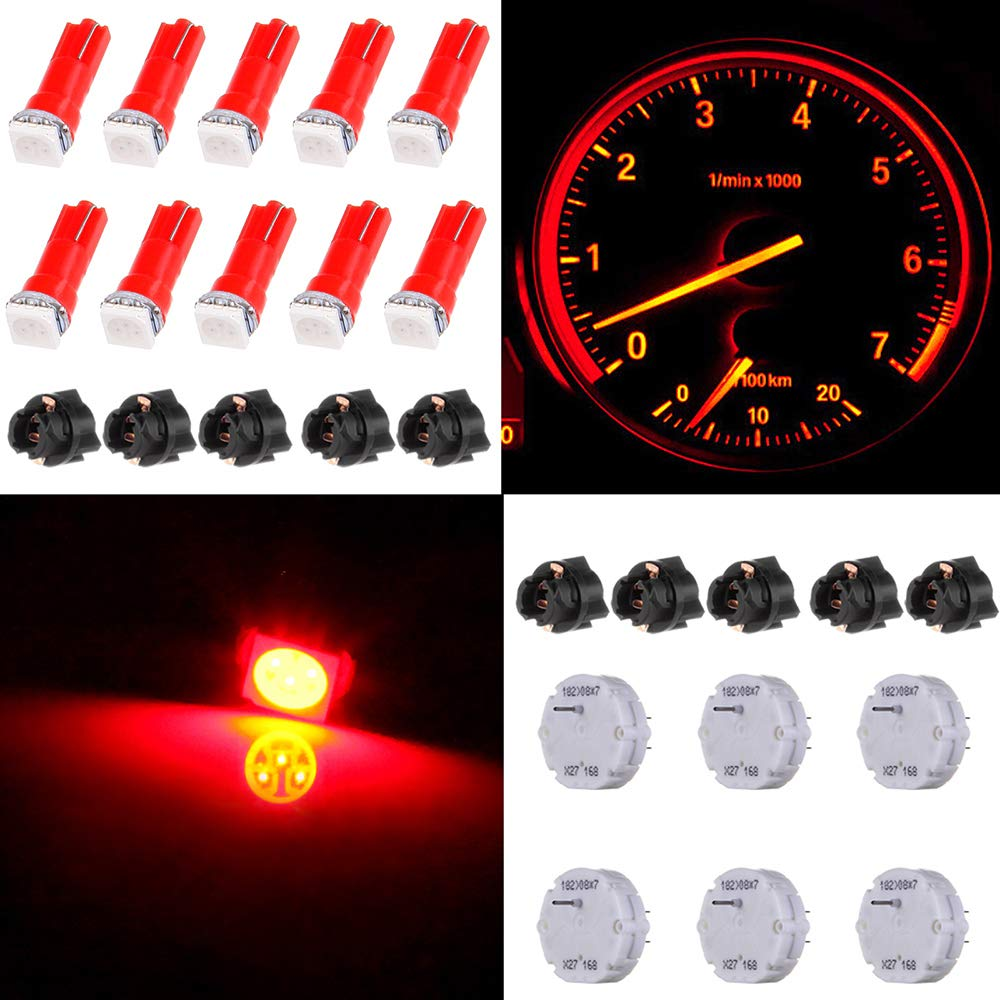 TUPARTS 6Pcs X27.168 Stepper Motors with 10Pcs LED Light Bulbs with Sockets Instrument Stepper Motor Repair Kit fit for GM Yukons Chevy Silverados Tahoes by TUPARTS
