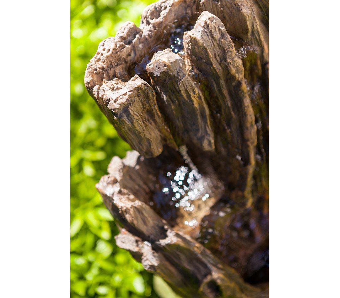 Dehner Brunnen Foresta mit LED Beleuchtung Polyresin 65 x 29 x 37 cm grau ca