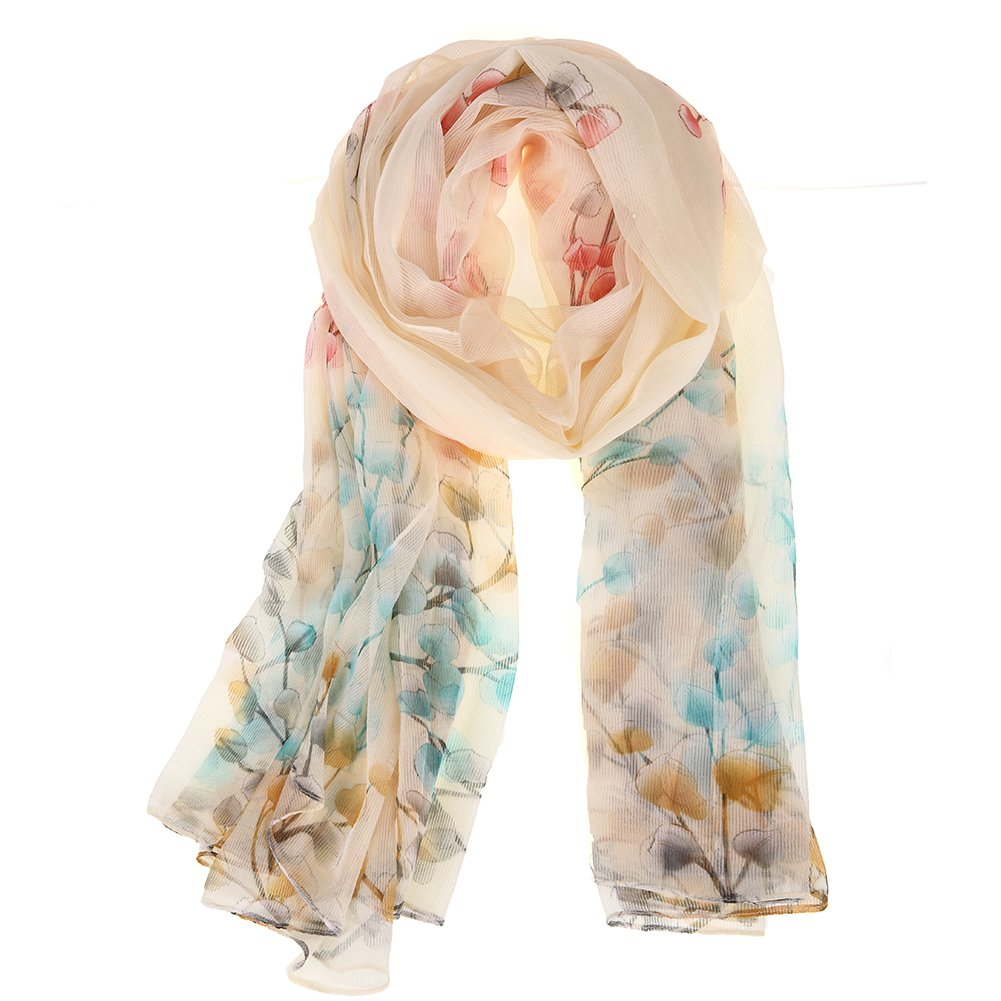 Floral Scarves lightweight Women Scarf Hair Evening Dresses Party Shawl Wrap by XiuyingFeng (Image #2)