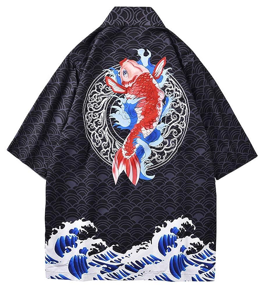 Amazon.com: LifeHe - Chaqueta para hombre japonesa con ...