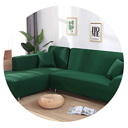 Amazon.com: Meet- fashion 2 Pieces Covers for L Shaped Sofa ...