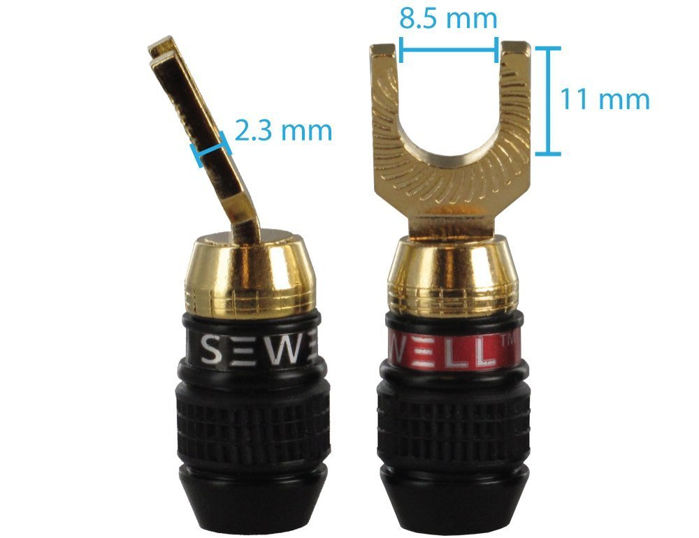 Sewell Deadbolt 45 Spade Plugs, 6 Pairs Sewell Direct SW-29995-6