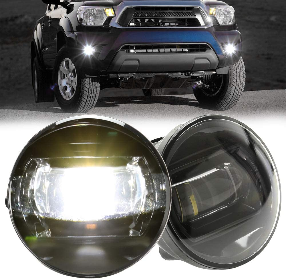 D-Lumina LED Fog Lights Assembly For Toyota Tacoma 2005 2006 2007 2008 2009 2010 2011 W//Projector LEDs 5500K White 15W Bumper Driving Lamps