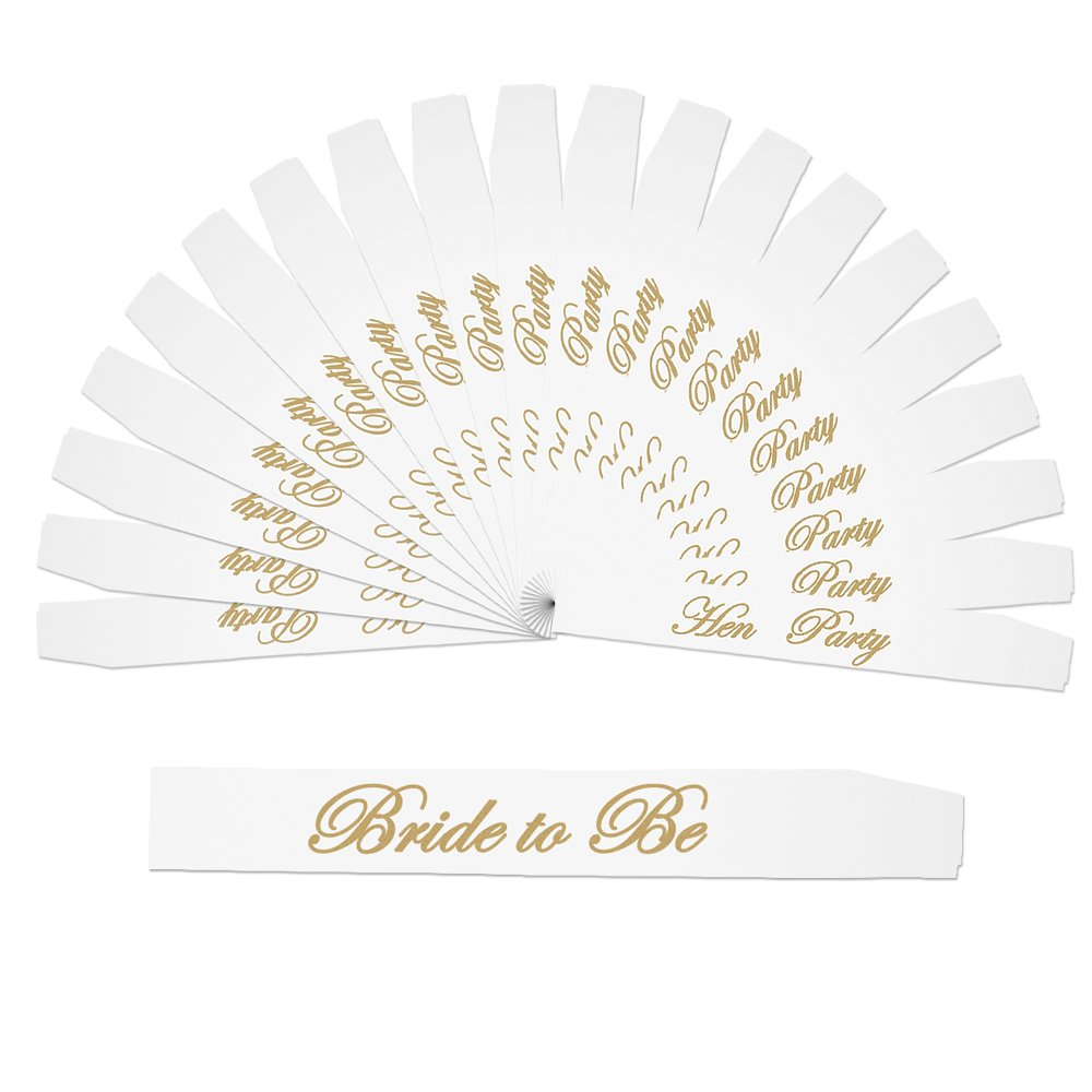 Dreamtop 20 pcs Hen Party Sashes and 1 pcs Bride to Be Sash for Hen Night Party Wedding Ladies Night Out