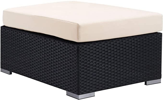 Amazon.com: Zime Mod Cartagena Outdoor Ottoman | Espresso ...