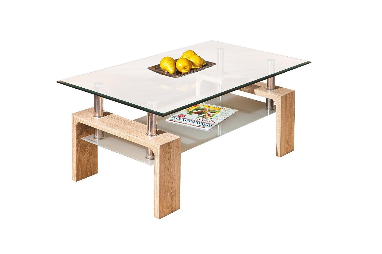 Links 19400020 Loana Table Basse Chêne de Sonoma 100 x 60 x 45 cm