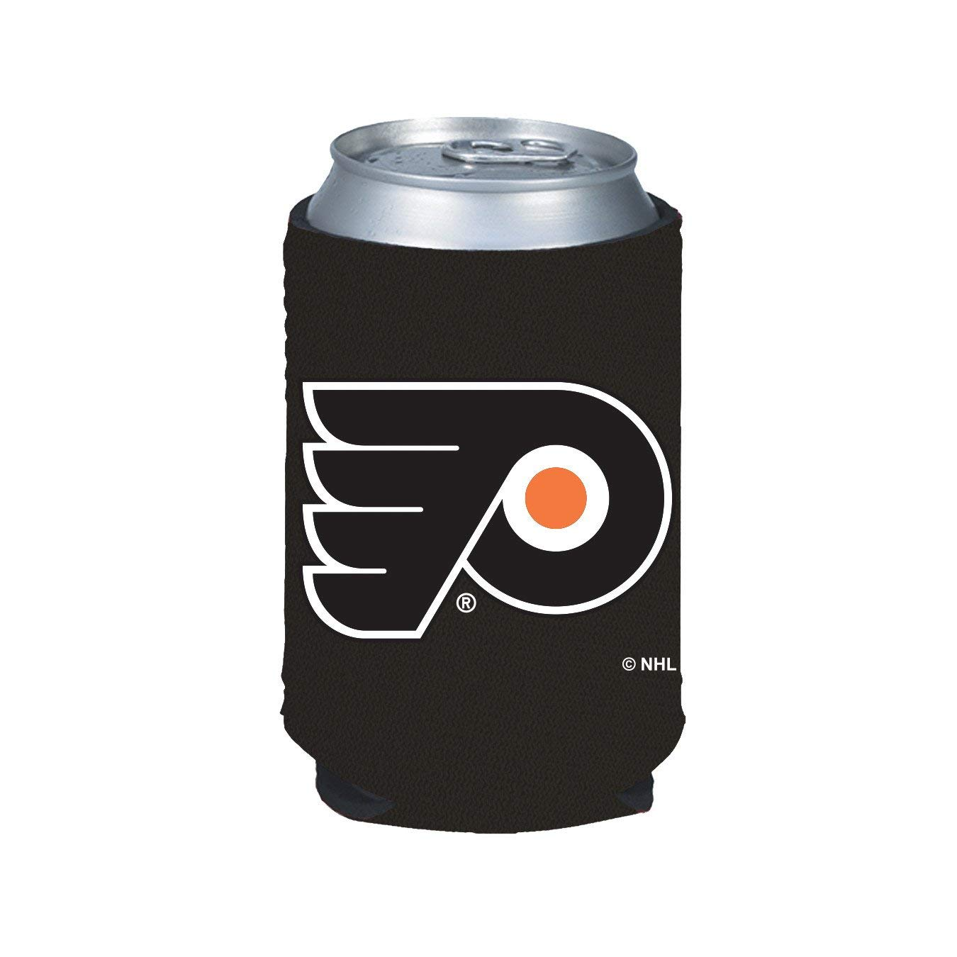NHLフィラデルフィアチラシブラック折りたたみ缶Koozie