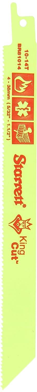 fluoreszierend gelb 0,1/cm Dick 5/St/ück Starrett br81014 14/TPI 10 Rescue und Demolition S/äbels/ägeblatt 20,3/cm L/änge x 3//10,2/cm Breite 5/BI-Metall Einzigartige gerader King Schnitt Fire