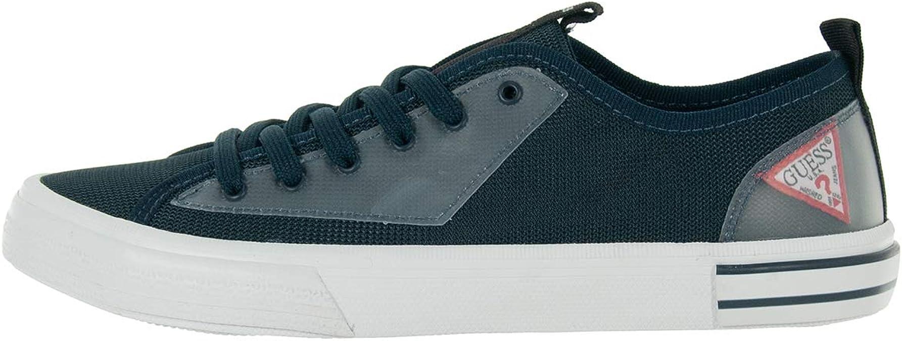 Guess - Zapatillas deportivas para hombre de algodón azul FM6NTLFAB12