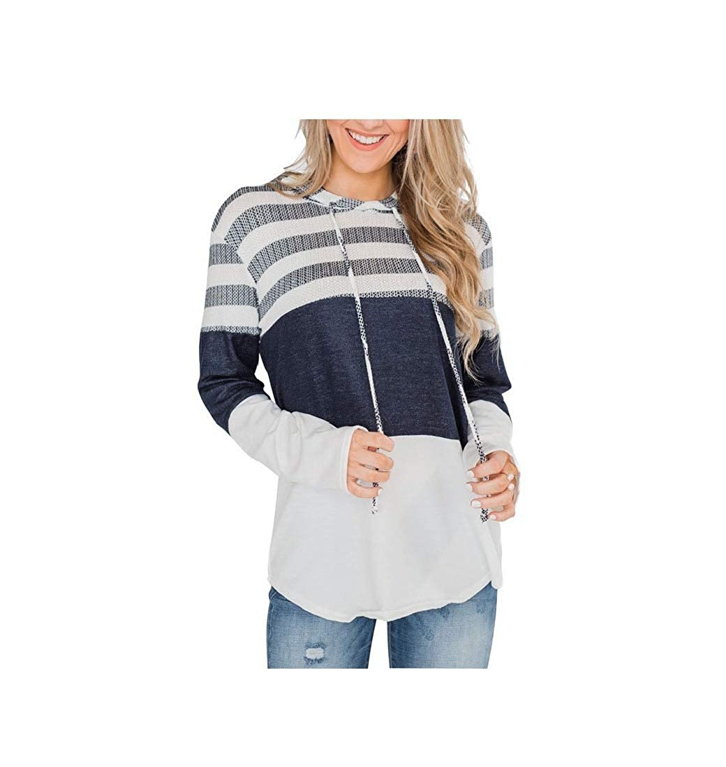 Coolred-Women Long-Sleeve Contrast Color Relaxed Pullover Hoodie Jacket