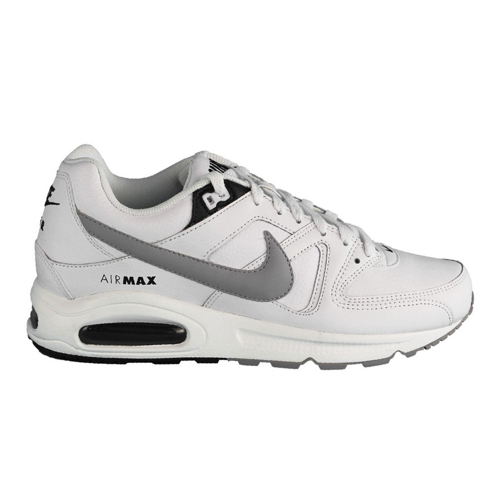 ... Nike Air Max Command Leather Unisex-Erwachsene Laufschuhe Training Weiß  ( White Wolf Grey- ... 6cc9f85e86