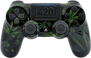 Amazon.com: 420 negro personalizado PS4 Pro Rapid Fire ...