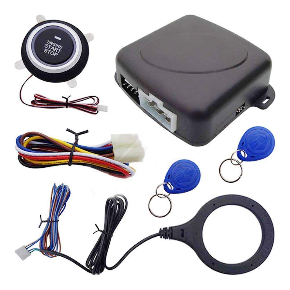 Amazon.com: Smart RFID Car Alarm System Engine Starter Push ...