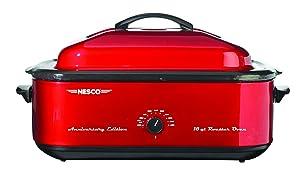 NESCO 4818-22, Anniversary Edition Roaster Oven, Red, 18 quart, 1425 watts