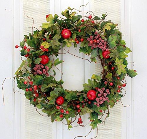 Shades of Napa in Fall Decorative Wreath for Front Door Indoor Autumn Seasonal Home Decor by Wreaths For Door