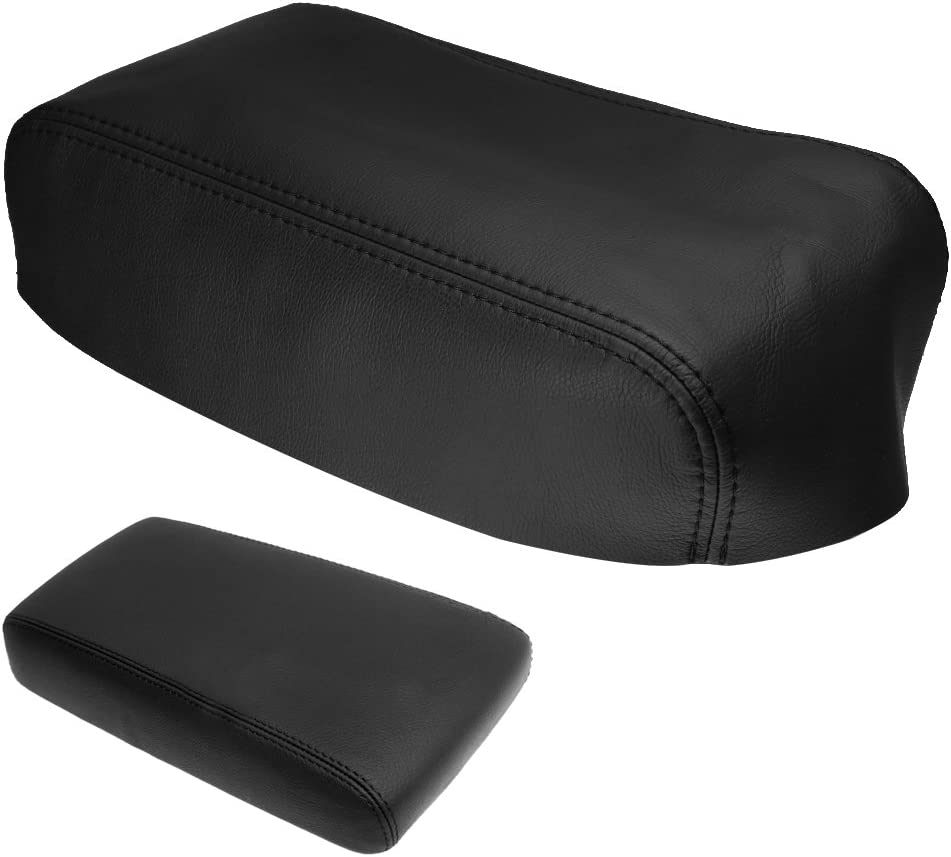 Aynaxcol Center Console Armrest Cover Skin Synthetic Leather/ Fits Nissan Pathfinder 1996 1997-2004 Black