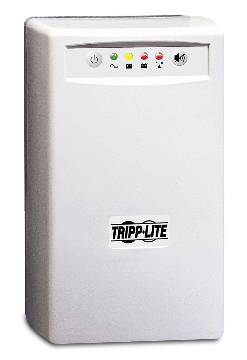 Tripp Lite INTERNETOFFICE500 500VA 280W UPS Desktop Battery Back Up Tower 120V USB RJ45 PC, 6 Outlets