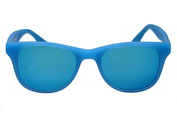 amoloma - Gafas de sol con cristales de espejo azul mate y ...
