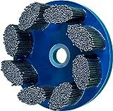 PFERD 83971 M-Brad Standard Density Composite Disc Brush, Silicon Carbide, 6'' Diameter, 0.045 x 0.090 Rectangular Filament, 2500 rpm, 120 Grit