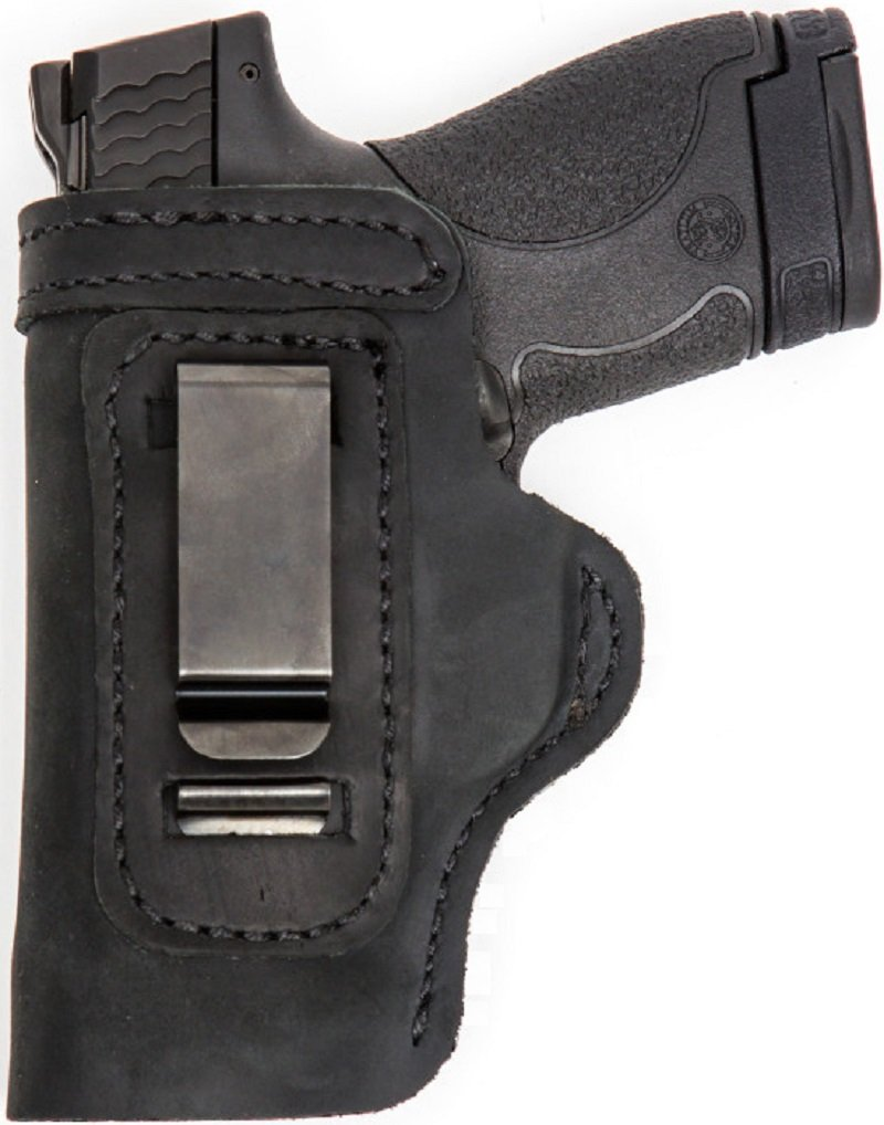 CUSTOM MADE HAND FIT LEATHER HOLSTER Black RH Right OWB/LH Left IWB GLOCK  40 MOS