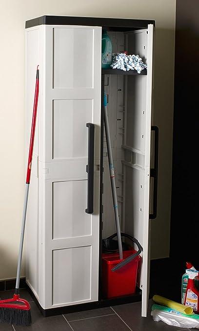 TOOMAX Comfort Line S - Armario escobero, 2 puertas, 4 estantes: Amazon.es: Jardín