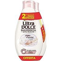 Garnier Ultra Dolce Bagnodoccia Ultra Delicato Idrata e Lenisce Crema d'Avena & Mandorla Dolce - Confezione da 2 X 500 ml
