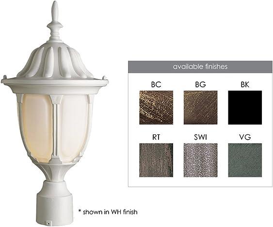 Trans Globe Lighting 4042 BG Outdoor Hamilton 19 Postmount Lantern, Black Gold
