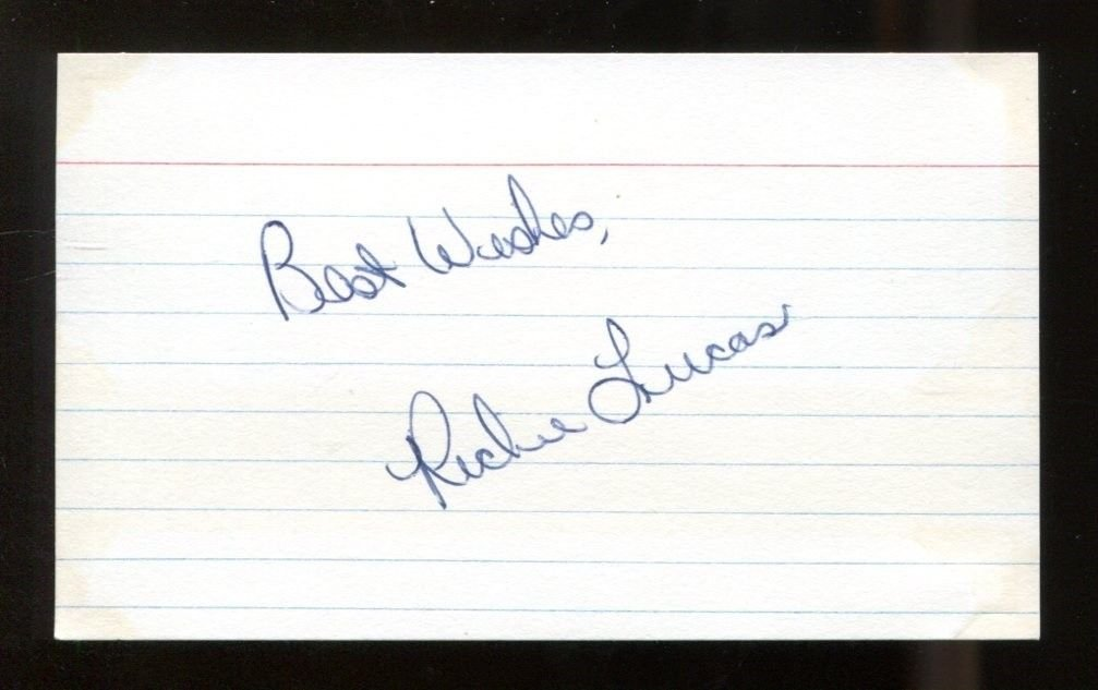 Richie Lucas Signed Index Card 3x5 Autographed CFHOF Penn State Rare 42144