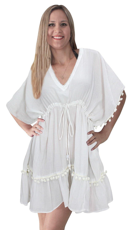 LA LEELA Beachwear Ricamato Costumi da Bagno Costume da Bagno Leggero Camicia di Occultamento del Bikini Vestito