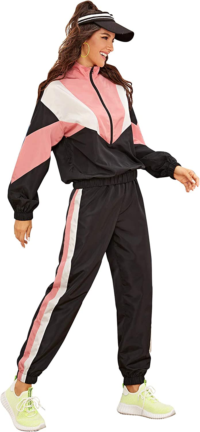 80s Costumes, Outfit Ideas- Girls and Guys Milumia Womens 2 Pieces Sport Outfits Long Sleeve Pullover Sweatshirt Top and Pants Sweatsuit Sportwear Set $37.99 AT vintagedancer.com