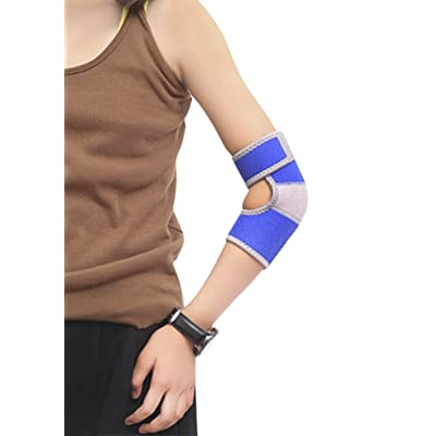 A Pair Kids Boys Girls Adjustable Breathable Neoprene Elbow Braces Pads Outdoor Sports Dance Elbow Suppport Protector Football Tennis Cycling Crashproof Elbow Brace Wrap Sleeve Arm Guard Strap Band : Sports & Outdoors