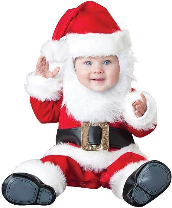 Baohooya Disfraz Elfo Navidad Niñas Niños - Manga Larga Santa Top ...