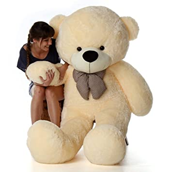 Buy Skylofts Imported Giant 6 Feet Huge Teddy Bear Soft Toy 170cm Plush Bear Valentines Gift Off White Cream Online At Low Prices In India Amazon