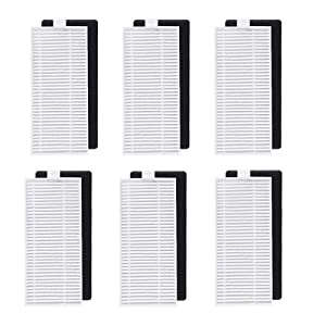 BBT BAMBOOST Filter Parts Fit for DEEBOT N79S DEEBOT N79 Robotic Vacuum Cleaner Accessories (Pack of 6)