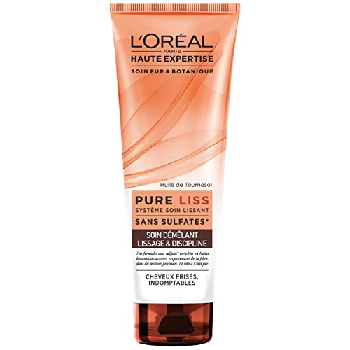 L'Oréal Paris Pure Liss Après-shampoing Cheveux frisés, Indomptables 250 ML