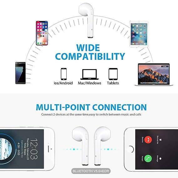 Auricular Bluetooth i8X, Auricular inalámbrico Bluetooth 4.1 Auricular estéreo Auricular estéreo Micrófono en la Oreja Manos Libres Auricular Incorporado: ...