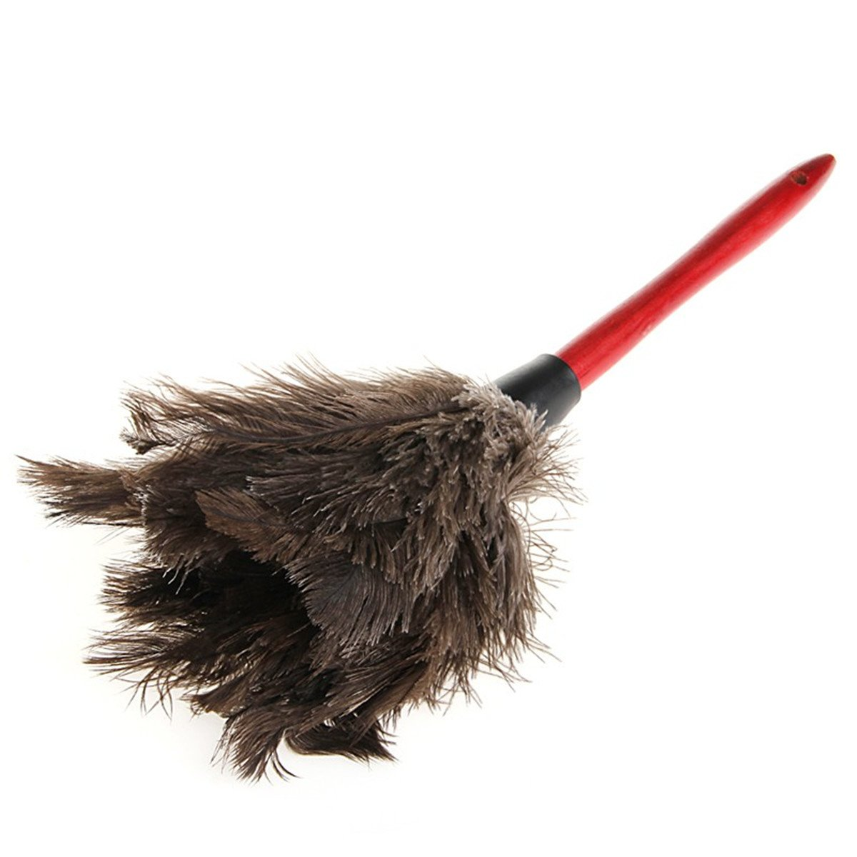 LKXHarleya Anti-static Ostrich Natural Feather Duster Home Cleaning Duster Brush with Wooden Handle