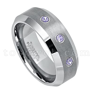 fa2f9e6c01fc Men s 0.21ctw Tanzanite 3-Stone Wedding Band