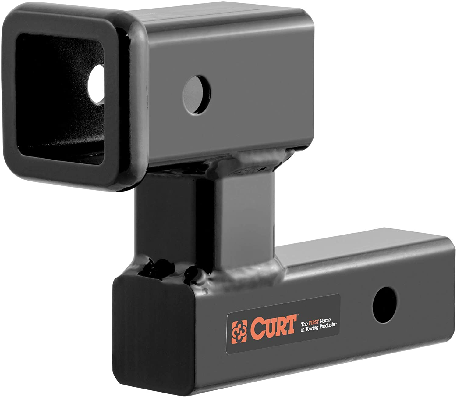 Amazon Com Curt 45794 Raised Trailer Hitch Extender Fits 2 Inch Receiver Extends 5 1 4 4 1 4 In Rise Automotive