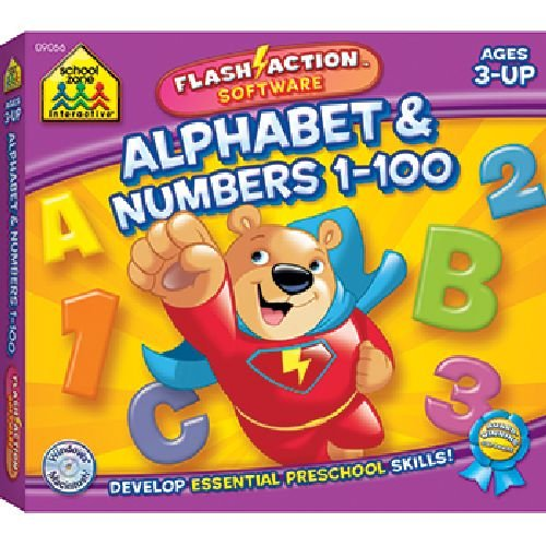 Alphabet & Numbers 1-100 Flash Action Software -- Case of ()