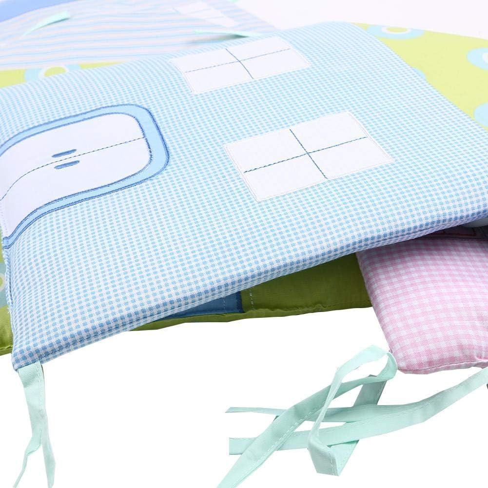 PoeticHouse 5PCS Tour De Lit Bebe Coton Respirant Contour De Lit Bebe Anti-cogner T/ête Pare-Choc Lit Protection Literie