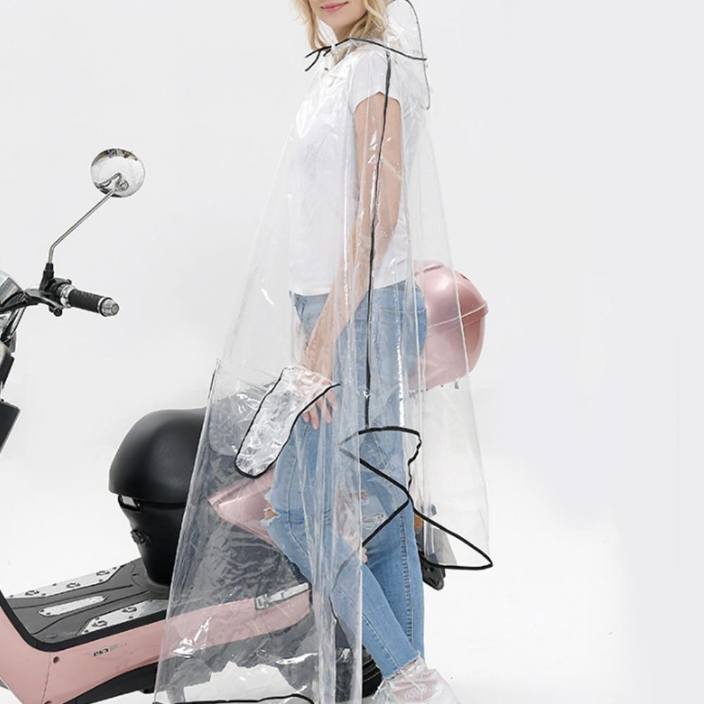 Regenkleidung Motorrad Transparent Regenponcho Regenmantel Wasserdichte Regenjacke EVA Fahrrad Raincoat Regencape f/ür M/änner /& Frauen Grau Line, 3XL