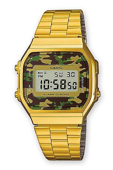 062acaead2c0 Casio Reloj de Pulsera A168WEGC-3EF  Amazon.es  Relojes