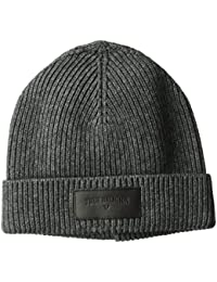 Men's Ribbed Knit Watchcap With Patch