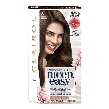 Amazon Clairol Nicen Easy Permanent Hair Color 5 Medium Brown