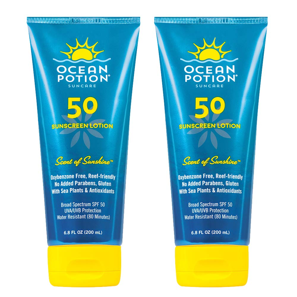 Ocean Potion SPF50 Scent of Sunshine Sunscreen Lotion 6.8 Ounces each (Value Pack of 2)