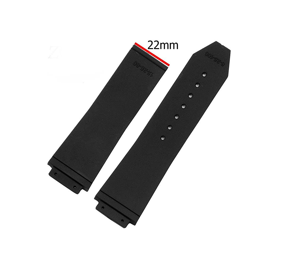 26mm x 19mm Black Strap to Fit Hublot Big Bang Tier Mens Watch Band Replacement Strap | Amazon.com