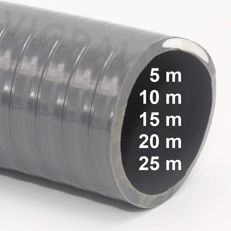10m Generisch PVC Klebeschlauch Flexschlauch Schwimmbad Pool Teich 50x43mm