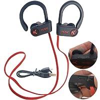 Fone Ouvido Bluetooth Microfone Esporte Corrida Vermelho