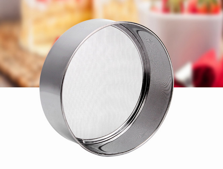Setaccio professionale rotondo in acciaio inox 18//8,/con rete da 250 micron 15 cm Silver Tspkey